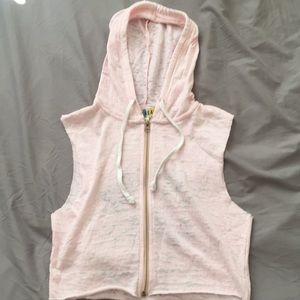 Derek Heart Pink Vest with Hood